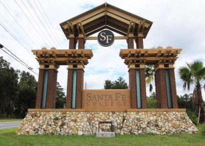 Santa Fe College Entrance Signage